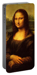 Portable Battery Charger featuring the painting Mona Lisa  by Leonardo da Vinci