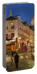 Montmartre Twilight Portable Battery Charger by Brian Jannsen