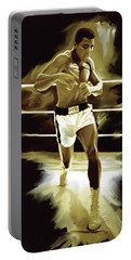 Muhammad Ali Boxing Artwork Portable Battery Charger