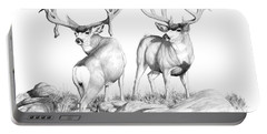 2 Muley Bucks Portable Battery Charger