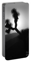 New Photographic Art Print For Sale Joshua Tree At Sunset Black And White Portable Battery Charger