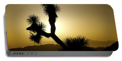 New Photographic Art Print For Sale Joshua Tree At Sunset Portable Battery Charger