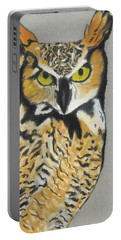 Portable Battery Charger featuring the painting Night Owl by Jeanne Fischer
