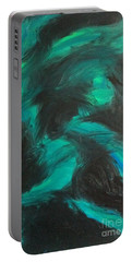 Portable Battery Charger featuring the painting Northern Light by Jacqueline McReynolds