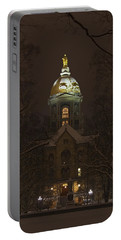 Notre Dame Golden Dome Snow Portable Battery Charger