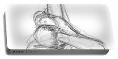 Nude Male Sketches 2 Portable Battery Charger
