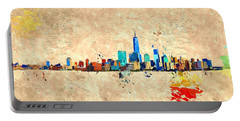 Nyc Grunge Portable Battery Charger by Daniel Janda