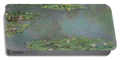 Nympheas Portable Battery Charger by Claude Monet