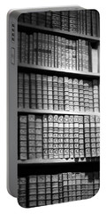 Old Books Portable Battery Charger by Chevy Fleet