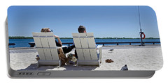 Portable Battery Charger featuring the photograph On The Waterfront by Keith Armstrong
