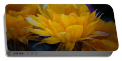 Orange Cactus Flowers  Portable Battery Charger