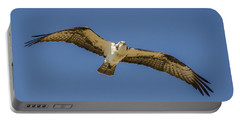 Portable Battery Charger featuring the photograph Osprey In Flight Spreading His Wings by Dale Powell