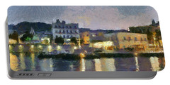 Panoramic View Of Spetses Town Portable Battery Charger
