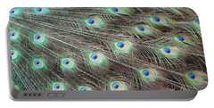 Peacock Feather Fiesta  Portable Battery Charger by Diane Alexander