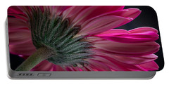 Pink Flower Portable Battery Charger by Edgar Laureano