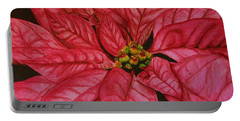 Poinsettia Portable Battery Charger by Marna Edwards Flavell