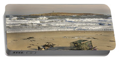 Popham Beach On The Maine Coast Portable Battery Charger by Keith Webber Jr
