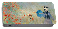 Poppies At Argenteuil Portable Battery Charger
