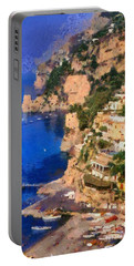 Positano Town In Italy Portable Battery Charger