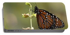 Portable Battery Charger featuring the photograph Queen Butterfly by Meg Rousher