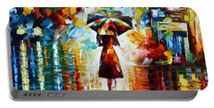 Rain Princess - Palette Knife Landscape Oil Painting On Canvas By Leonid Afremov Portable Battery Charger
