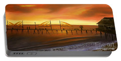 Redondo Beach Pier At Sunset Portable Battery Charger