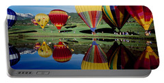 Reflection Of Hot Air Balloons Portable Battery Charger