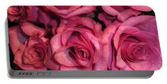 Rosebouquet In Pink Portable Battery Charger