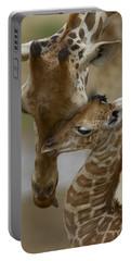 Rothschild Giraffe And Calf Portable Battery Charger