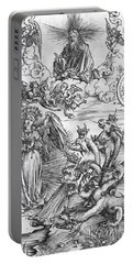 Scene From The Apocalypse Portable Battery Charger by Albrecht Durer or Duerer
