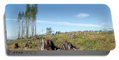 Scenic Of Clear Cutting Near Mt Portable Battery Charger