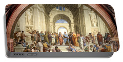 School Of Athens Portable Battery Charger
