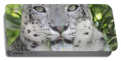 Snow Leopard Portable Battery Charger by John Telfer