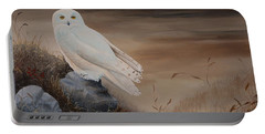Snowy Owl Portable Battery Charger