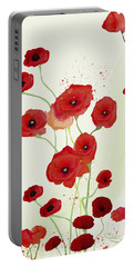 Sonata Of Poppies Portable Battery Charger