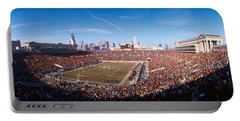 Spectators Watching A Football Match Portable Battery Charger by Panoramic Images