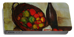 Still Life With Apples After Cezanne - Painting Portable Battery Charger