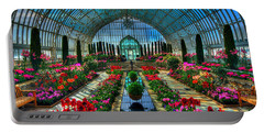 Sunken Garden Como Conservatory Portable Battery Charger by Amanda Stadther