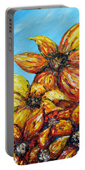 Portable Battery Charger featuring the painting Sunrise by Meaghan Troup