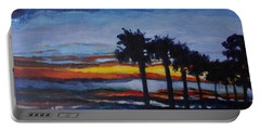 Sunset In St. Andrews Portable Battery Charger by Jan Bennicoff