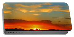 Sunset In The Desert Portable Battery Charger