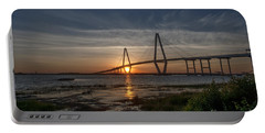 Sunset Over The Bridge Portable Battery Charger