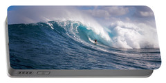Surfer In The Sea, Maui, Hawaii, Usa Portable Battery Charger