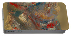 Portable Battery Charger featuring the painting Syncopation 2 by Mini Arora