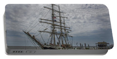 Tall Ship Gunilla Portable Battery Charger by Dale Powell
