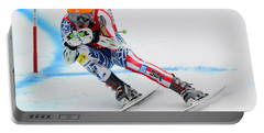 Ted Ligety Skiing  Portable Battery Charger