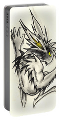 Portable Battery Charger featuring the drawing The Gargunny by Shawn Dall