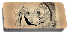 Portable Battery Charger featuring the drawing The Palace Balcony by Reynold Jay