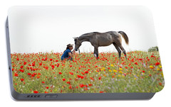 Portable Battery Charger featuring the photograph Three At The Poppies' Field... 4 by Dubi Roman
