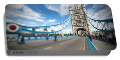 Tower Bridge In London Portable Battery Charger by Chevy Fleet
